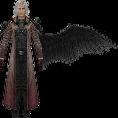 Degraded model in <i>Crisis Core -Final Fantasy VII-</i>.