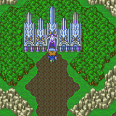 Exdeath's Castle on the world map (GBA).