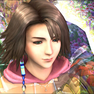 Yuna only meets Tidus's spirit in the sad ending.