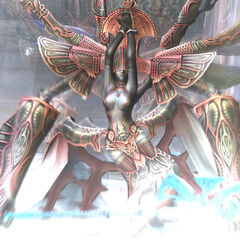 Mateus wakes up from its slumber to attack the party in <i>Final Fantasy XII</i>.