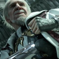 Iedolas Aldercapt as he appears in <i>Kingsglaive: Final Fantasy XV</i>.