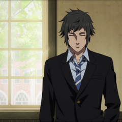 Noctis in school uniform.