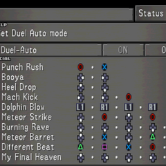 The fourth Status Screen for Zell, showing Zell's Limit Break options.