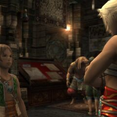 Kytes talking to Vaan in Migelo's Sundries.