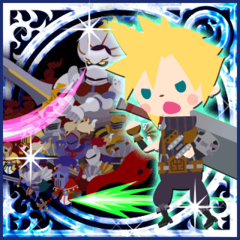 Summon Knights of the Round (CR) Legend card in <i>Final Fantasy Airborne Brigade</i>.