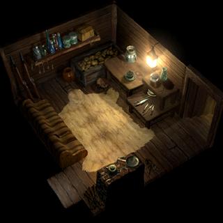 Holzoff's cabin.