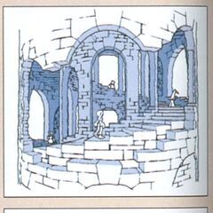 Concept artwork of Dr. Tot's study.