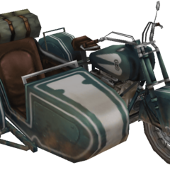 Render of Zack's escape motorcycle in <i>Crisis Core</i>.
