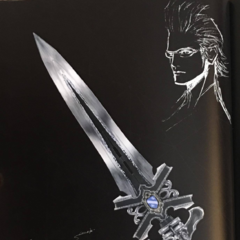 Artwork of Ignis and accessories associated with him.
