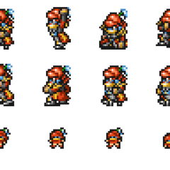Set of Gilgamesh's sprites.