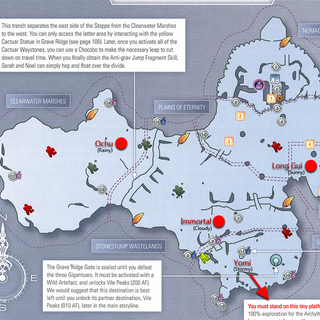 Map of the Archylte Steppe for <i>Final Fantasy XIII-2</i>.