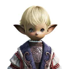 Male Lalafell CG bust; model unused in any cinematic.