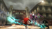 Ace attacking Final Fantasy Type 0