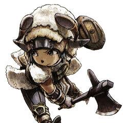 Artwork of a Tarutaru Beastmaster.