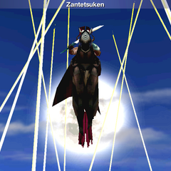 Zantetsuken in the <i>Final Fantasy IV</i> (iOS).