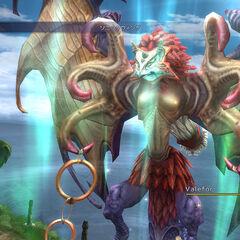 Valefor in battle in <i>Final Fantasy X HD</i>.