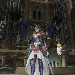 A player with his Wind-up Moogle minion floating by his side.