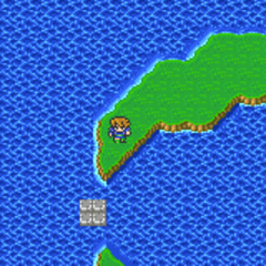 The Catapult on the World Map (GBA).
