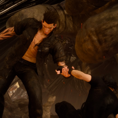 Gladiolus in confrontation with Noctis.