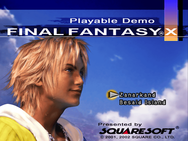 final fantasy x playable demo final fantasy wiki
