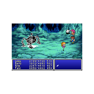 Faris erased from the battle due to Encircle (GBA).