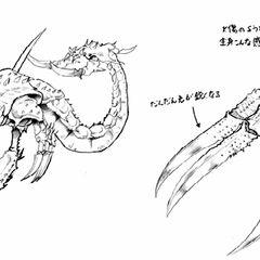 Concept art of Karlabos for the Anthology release of <i>Final Fantasy V</i>.