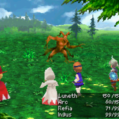 Mythril Shield in <i>Final Fantasy III</i> (DS).