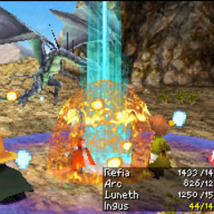 Megaflare as an enemy attack in <i><a href=