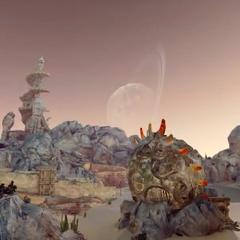 Atomos in the Dead Dunes in <i>Lightning Returns</i>.