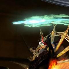 Cutscene in <i>Final Fantasy VIII</i>.
