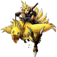 Cloud on a Chocobo colored.