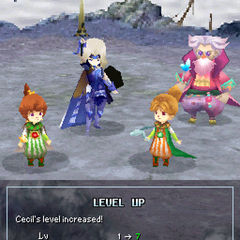 Level up pose for Paladin Cecil (DS).