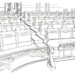 Auditorium concept art.