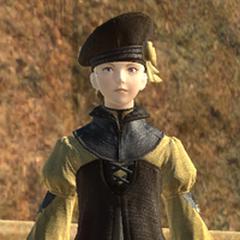 Minfilia as a young girl.