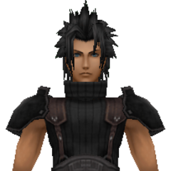 Model of 1st class Zack from <i>Crisis Core -Final Fantasy VII-</i>.