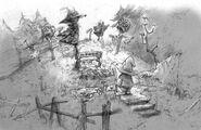 Black Mage Graveyard Artwork