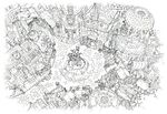 Lindblum Business District Square FF9 Art