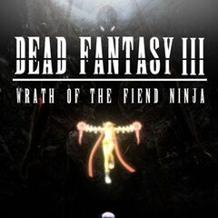 A early promo poster for <i>Dead Fantasy III</i> before the plot was changed, featuring Ayane and Rikku.