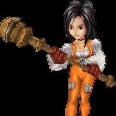 Long-haired battle model.
