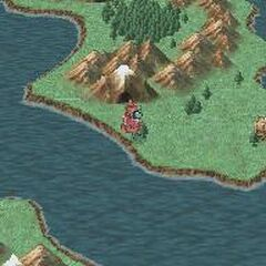 The Dwarven Hollows on the World Map (DS).