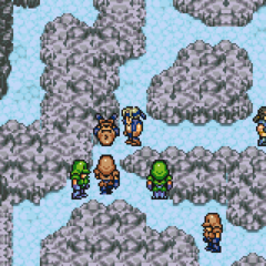 Battle for the frozen esper.