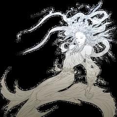 Artwork of Cosmos in <i>Dissidia 012 Final Fantasy</i>.