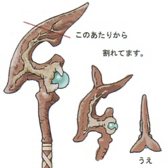 Concept artwork for the Oak Staff.