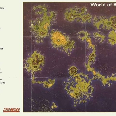 World of Ruin Map.