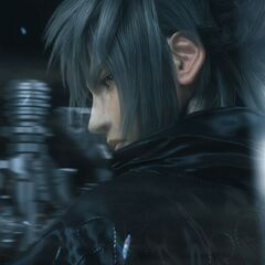 Noctis's crystal weapons shield him in the extended version of the trailer.
