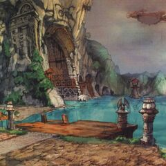 Lindblum Port artwork.