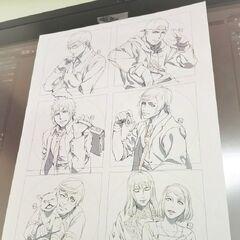 Coaster designs for Square Enix Cafe.
