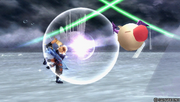 Tidus throws a Moogle