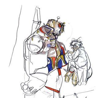 Artwork of Dr. Lugae with Barnabas.