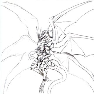 Concept art of Bahamut ZERO.